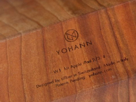 Yohann Standfläche mit eingraviertem Logo